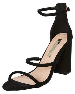 BLACK SUEDE WOMENS FOOTWEAR BILLINI HEELS - H895BSDE