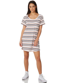 MULTI STRIPE WOMENS CLOTHING ALL ABOUT EVE DRESSES - 6423023STR