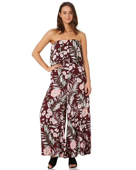 MERLOT FLORAL WOMENS CLOTHING O'NEILL PLAYSUITS + OVERALLS - 5421801MRF