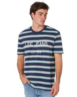BLUE TONE STRIPE MENS CLOTHING LEE TEES - 601909LU3