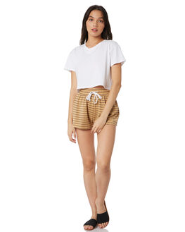 NATURAL STRIPE OUTLET WOMENS SWELL SHORTS - S8174231STP