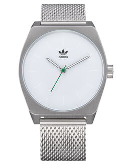 SILVER WHITE GREEN MENS ACCESSORIES ADIDAS WATCHES - Z02-3244