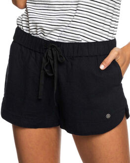 TRUE BLACK WOMENS CLOTHING ROXY SHORTS - ERJNS03185KVJ0