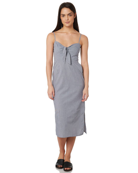 NAVY CHECK OUTLET WOMENS ELWOOD DRESSES - W84721A89