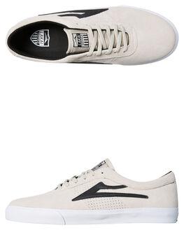 WHITE BLACK MENS FOOTWEAR LAKAI SNEAKERS - MS1180101AWHBK