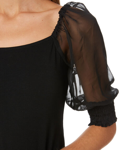 BLACK WOMENS CLOTHING MINKPINK FASHION TOPS - MP2002009BLK