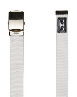 WHITE MENS ACCESSORIES OBEY BELTS - 100050026WHT