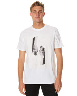 WHITE MENS CLOTHING OURCASTE TEES - T1119WHT