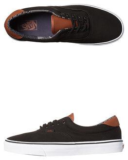 BLACK MATERIAL MIX MENS FOOTWEAR VANS SNEAKERS - VN-A38FSMMKBLK