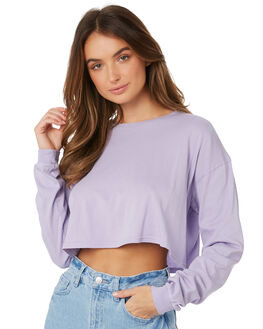 LAVENDER OUTLET WOMENS SWELL TEES - S8189100LAVDR