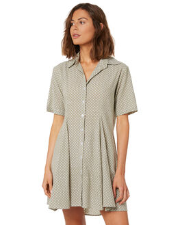 KHAKI WOMENS CLOTHING RUE STIIC DRESSES - WS18-11-KS-CBKHAKI