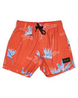 RED KIDS BOYS RIP CURL BOARDSHORTS - OBOUU10040