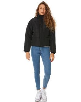BLACK WOMENS CLOTHING RVCA JACKETS - R283436BLK