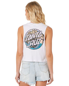 WHITE WOMENS CLOTHING SANTA CRUZ SINGLETS - SC-WTC8701WHI