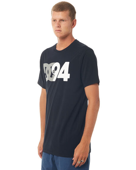 BLACK MENS CLOTHING DC SHOES TEES - UDYZT03454BLK