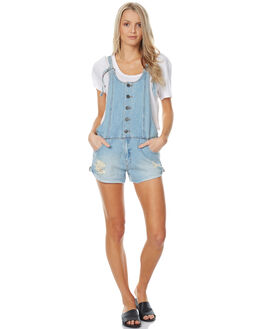 OCEAN BLUE WOMENS CLOTHING BILLABONG PLAYSUITS + OVERALLS - 6576434BLU