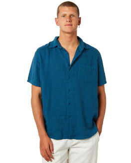 MOROCCAN BLUE MENS CLOTHING AFENDS SHIRTS - M184201MRBLU