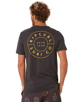 WASHED BLACK MENS CLOTHING RIP CURL TEES - CTEON28264