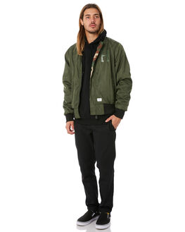 WOODLAND CAMO MENS CLOTHING HUF JACKETS - HUF-JK00077-WOOD