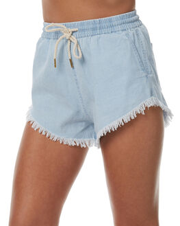 REBEL BLEACH WOMENS CLOTHING A.BRAND SHORTS - 70741-2349