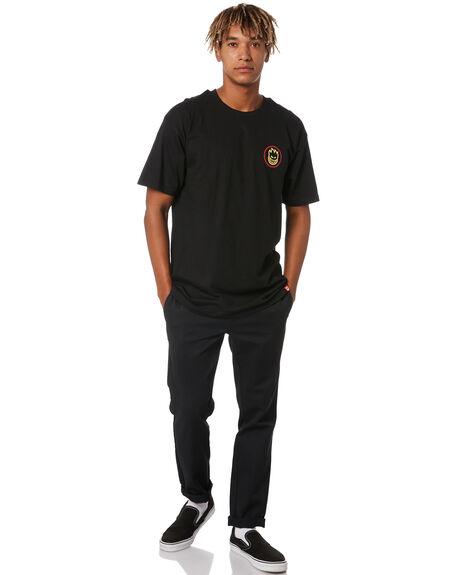 BLACK MENS CLOTHING SPITFIRE TEES - 51010238AXBLK