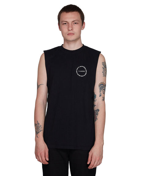 BLACK RINSE MENS CLOTHING ELEMENT SINGLETS - EL-107272-2BR