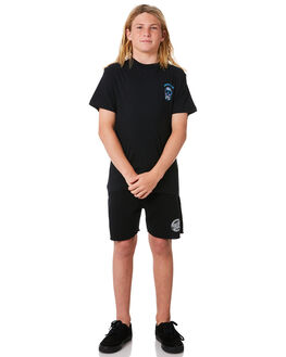 BLACK KIDS BOYS SANTA CRUZ SHORTS - SC-YFC8110BLK