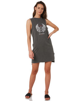 CHARCOAL WOMENS CLOTHING SILENT THEORY DRESSES - 6044053CHAR