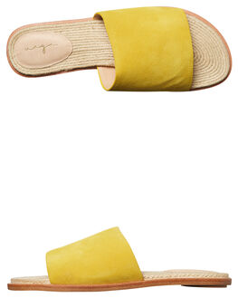 YELLOW SUEDE WOMENS FOOTWEAR URGE FASHION SANDALS - URG17075YELL