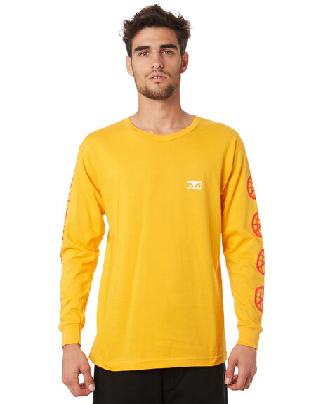 GOLD MENS CLOTHING OBEY TEES - 164902052GLD