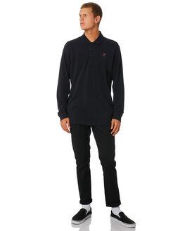 BLACK MENS CLOTHING PASS PORT SHIRTS - PPFULLTIMEBLK