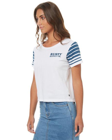 WHITE WOMENS CLOTHING RUSTY TEES - TTL0906WHT