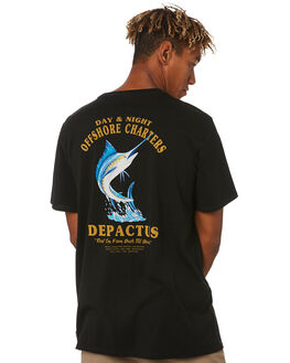 BLACK MENS CLOTHING DEPACTUS TEES - D5203009BLACK