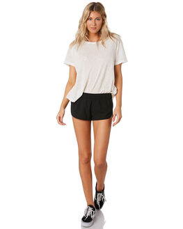 BLACK WOMENS CLOTHING HURLEY SHORTS - BV2048-010