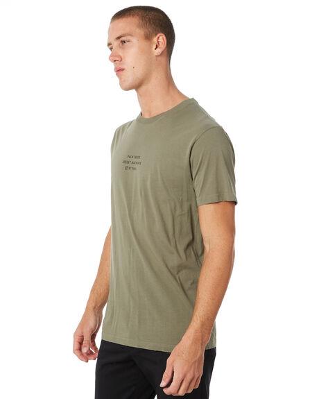 ARMY GREEN MENS CLOTHING THRILLS TEES - TW8-109FAGRN