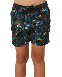 TROPICAL COMBO KIDS BOYS ACADEMY BRAND BOARDSHORTS - B20S737TROP