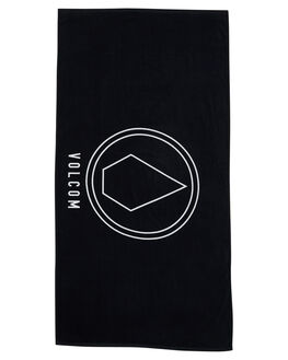 BLACK MENS ACCESSORIES VOLCOM TOWELS - D67417G3BLK