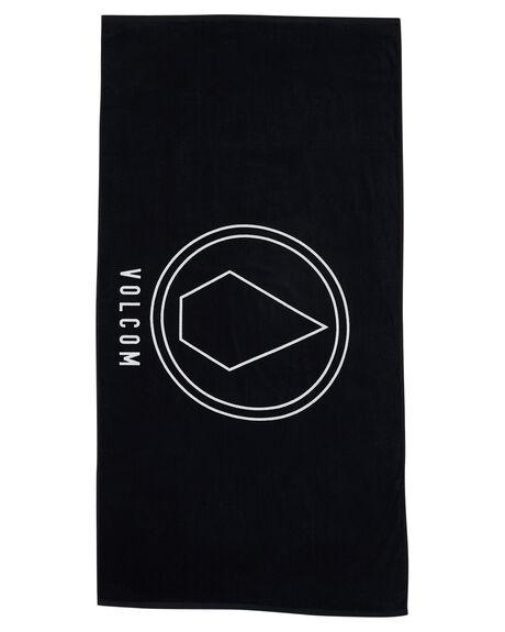 BLACK MENS ACCESSORIES VOLCOM TOWELS - D67417G3BLK