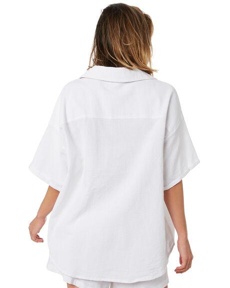 WHITE WOMENS CLOTHING STUSSY FASHION TOPS - ST102405WHT