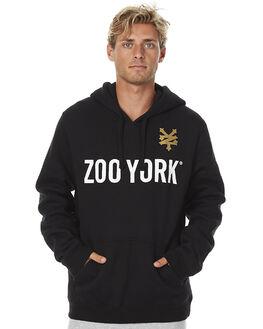 JET BLACK MENS CLOTHING ZOO YORK JUMPERS - ZY-MFNC069JBLK