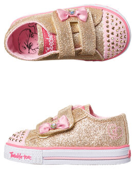 GOLD PINK KIDS TODDLER GIRLS SKECHERS FOOTWEAR - 10729NGDPK