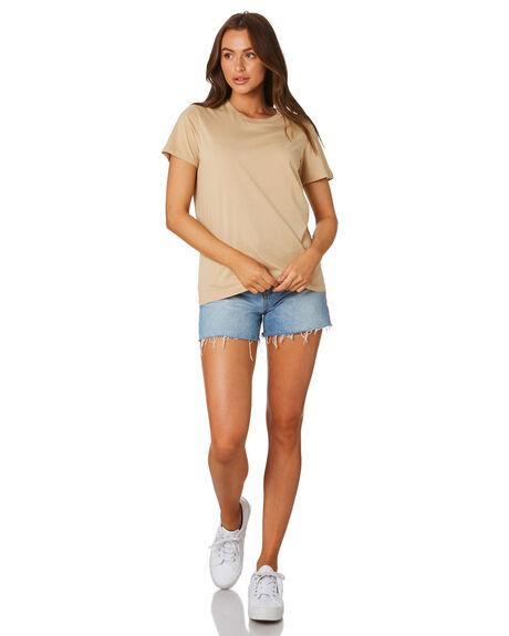 TAN WOMENS CLOTHING AS COLOUR TEES - 4001TAN