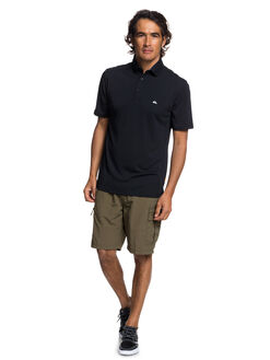 BLACK MENS CLOTHING QUIKSILVER SHIRTS - EQMKT03046-KVJ0