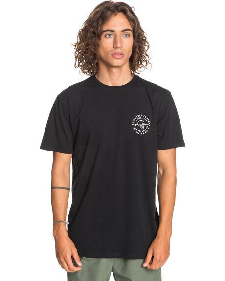 BLACK MENS CLOTHING QUIKSILVER TEES - EQYZT06207-KVJ0