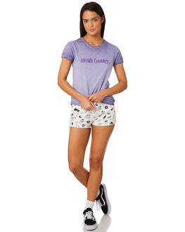 PURPLE DAZE WOMENS CLOTHING AFENDS TEES - W184010PUR