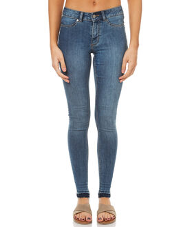 ESSENTIAL BLUE WOMENS CLOTHING CHEAP MONDAY JEANS - 0442326EBL