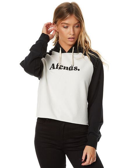 BLACK AND NATURAL WOMENS CLOTHING AFENDS JUMPERS - 55-01-013BLKNAT