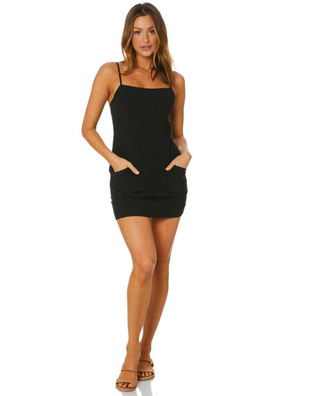 BLACK WOMENS CLOTHING RUSTY DRESSES - DRL1076BLK