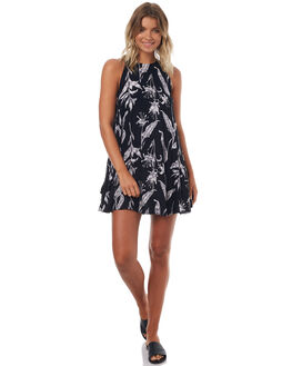 ANTHRACITE LOVE WOMENS CLOTHING ROXY DRESSES - ERJWD03149ANTHR