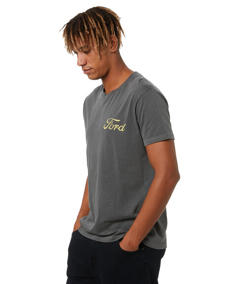 WASHED BLACK MENS CLOTHING ROLLAS TEES - 16336056